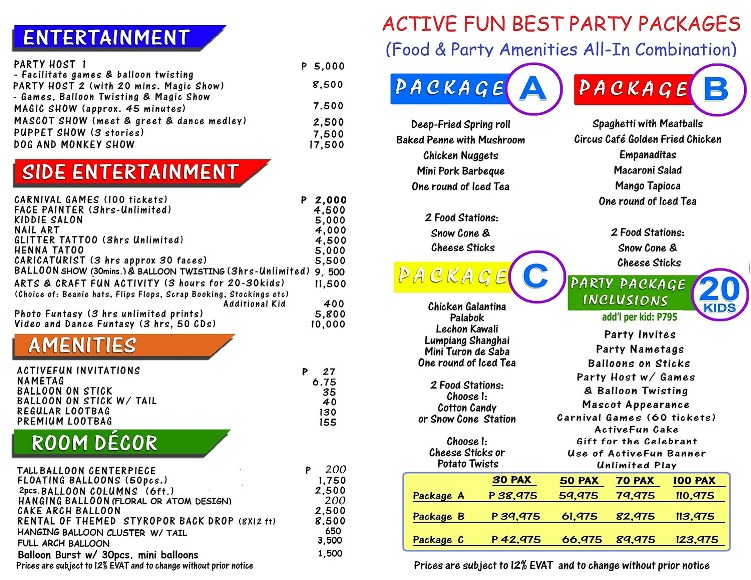 active+fun+party+package