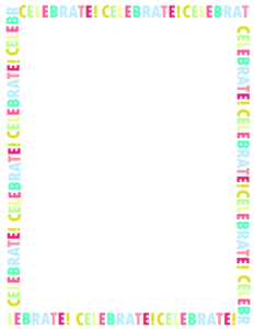 free printable happy birthday border