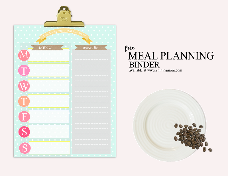 free printable healthy meal planner