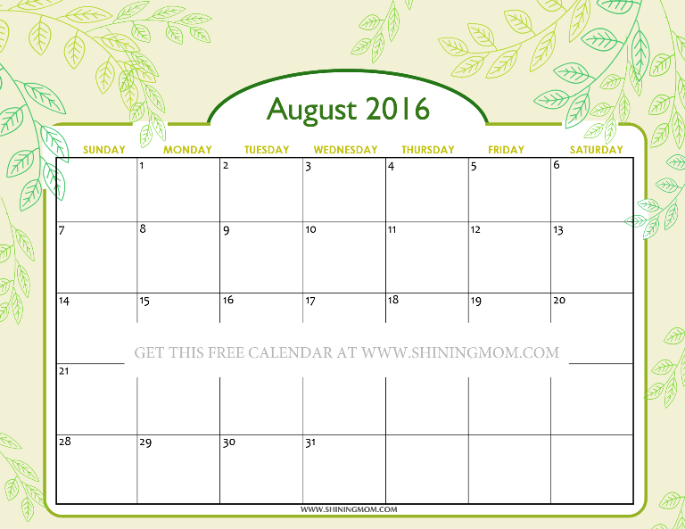 This last free-to-print calendar that I am sharing is great calendar ...