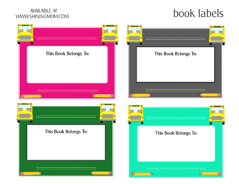 back to school book labels