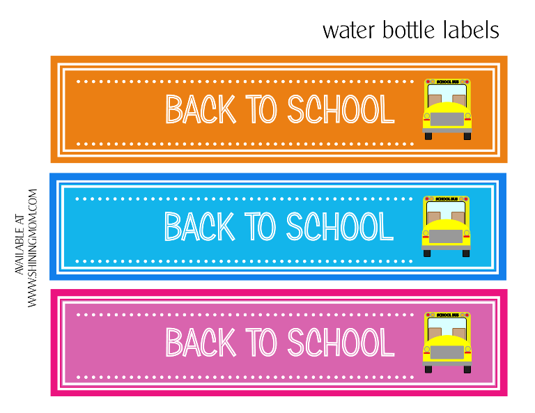back to school bottle labels