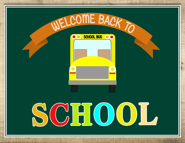 back to school signage