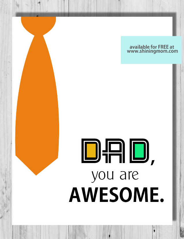 cool free printable father's day cards