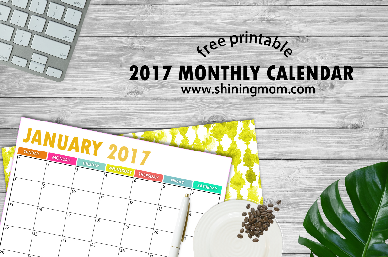 free printable 2017 calendar monthly