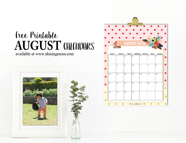 free printable august 2016 calendar