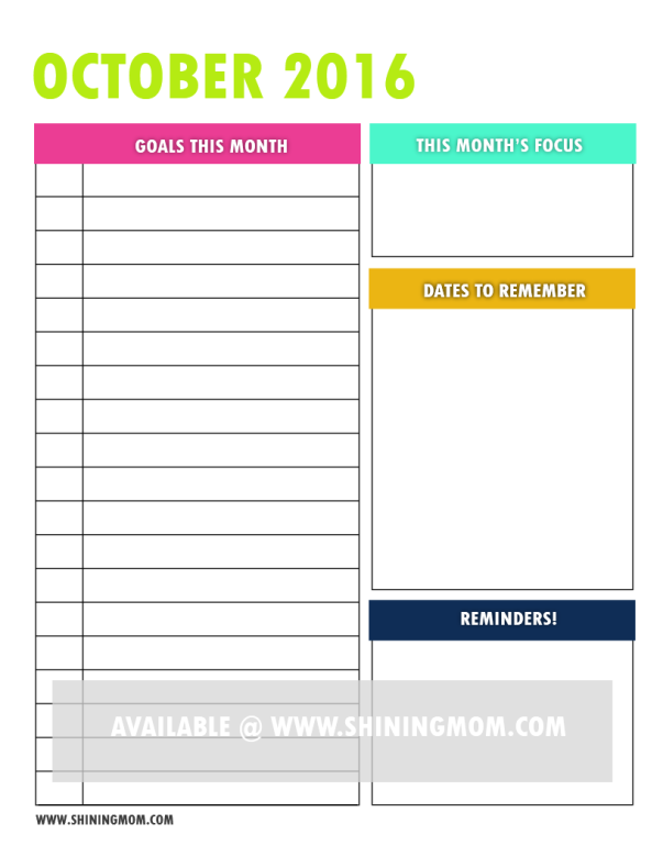 free printable goal setting page 5