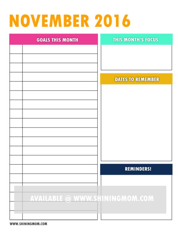 free printable goal setting page 6