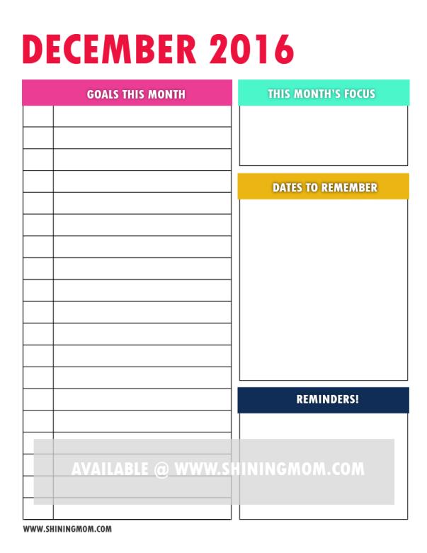free printable goal setting page 7