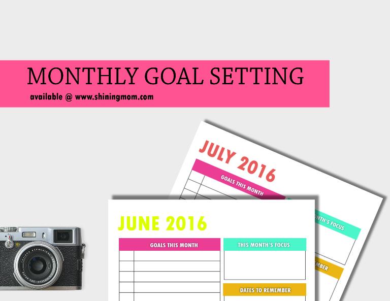free printable goal setting page