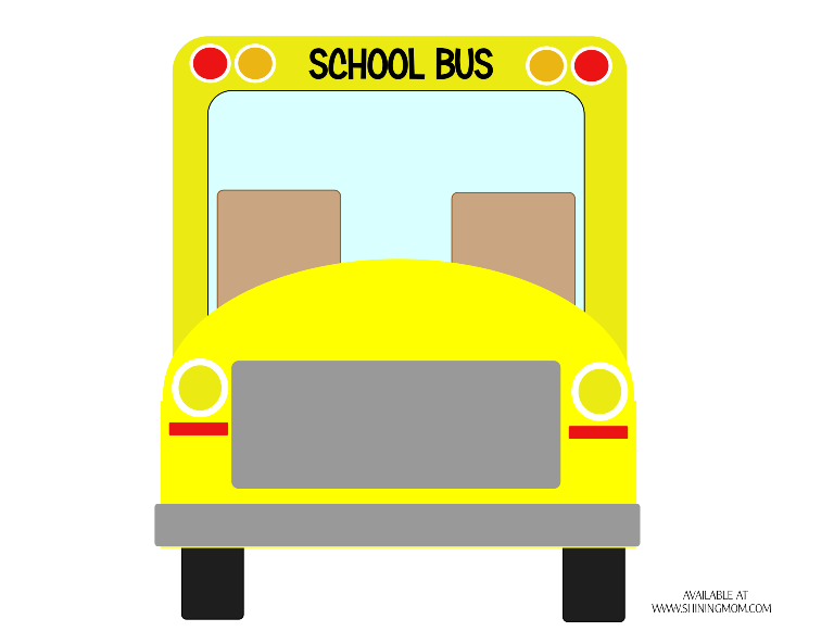 free printable school bus