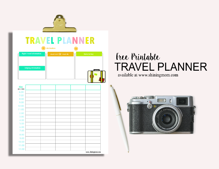 FREE TRAVEL PLANNER via shiningmom blog