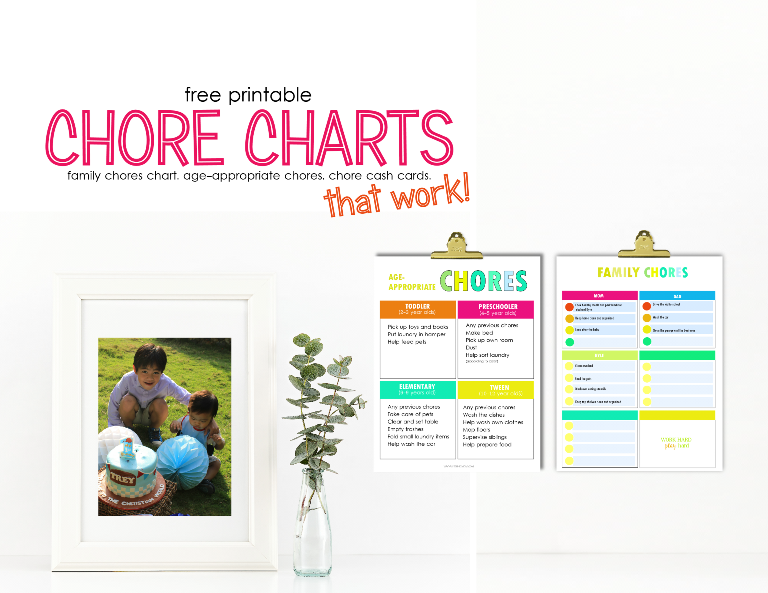picture regarding Printable Chore Cards called Cost-free Printable Chore Charts that Energy!
