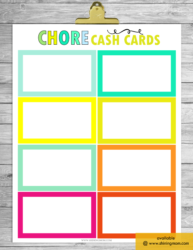 It's just an image of Printable Picture Chore Cards regarding editable