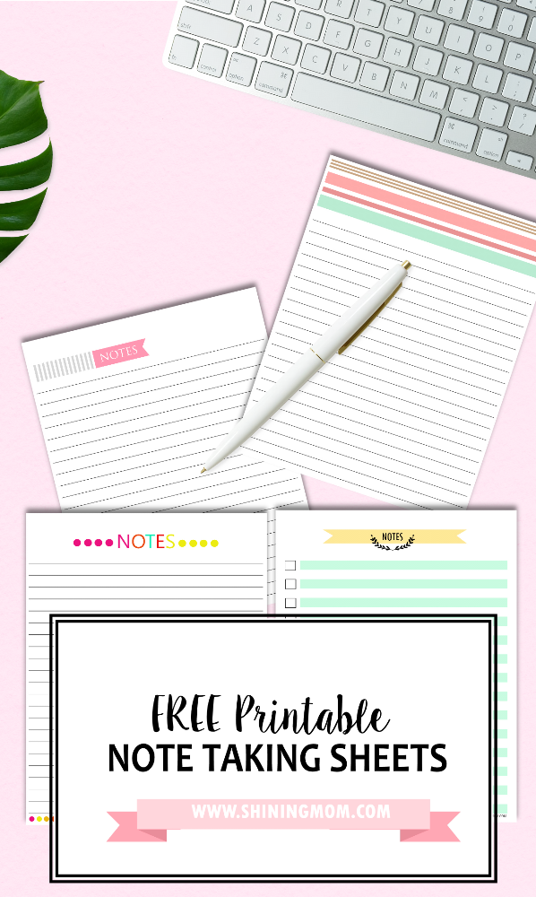 Happy Freebie Monday Note Taking Sheets