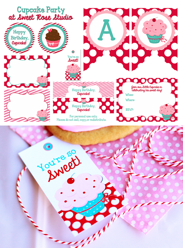 Cupcake-Party-Printables