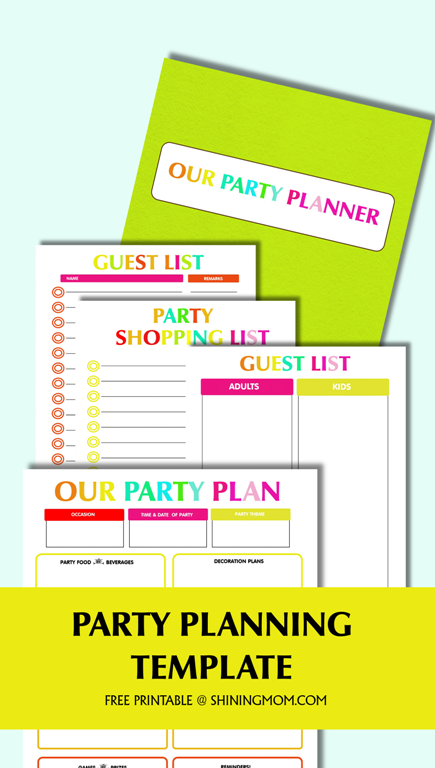 picture relating to Party Plan Template identified as Free of charge Printable Occasion Coming up with Template
