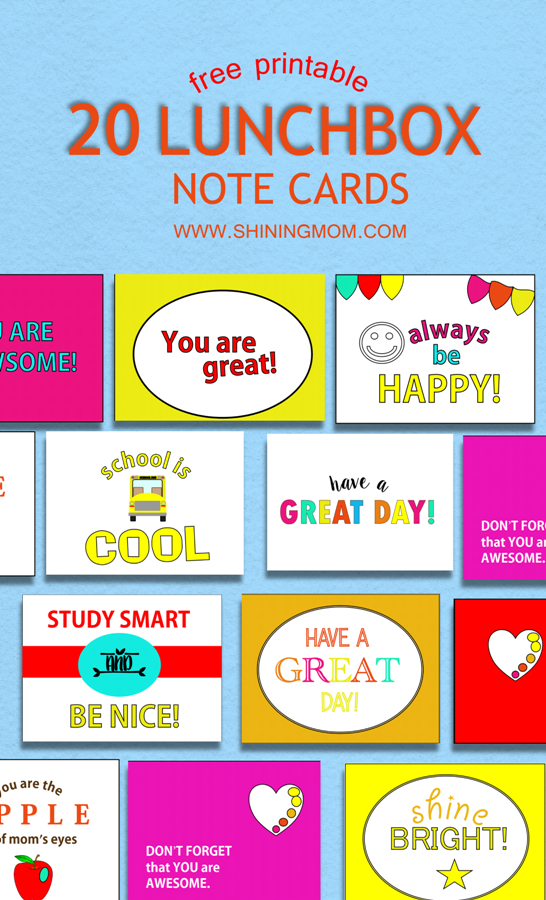 picture about Free Printable Lunchbox Notes known as Unquestionably Adorable: 20 Absolutely free Printable Lunchbox Notes for Little ones!