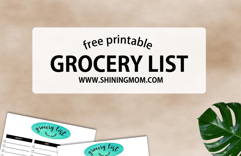 free organized grocery list