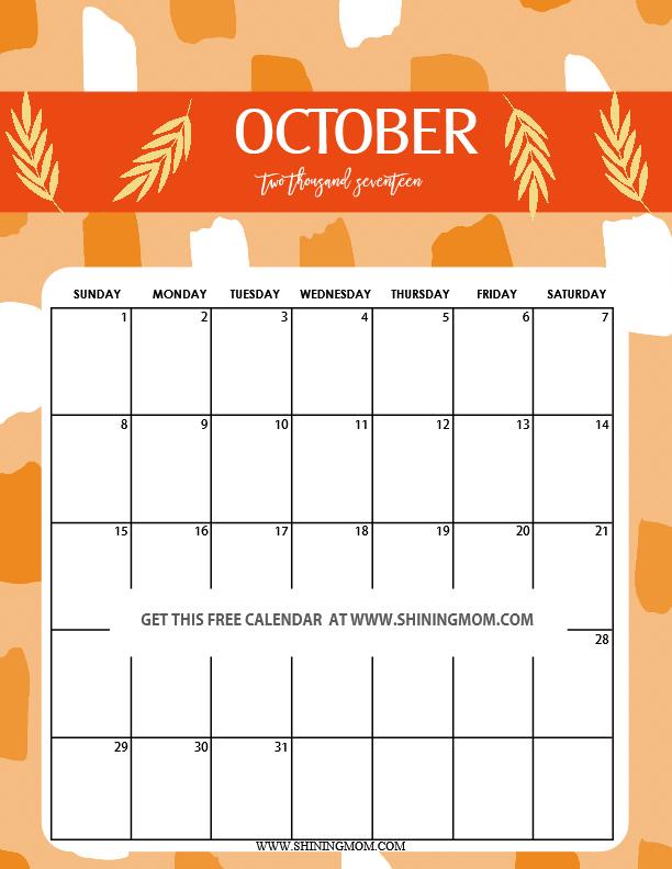 cute-october-2017-printable-calendar
