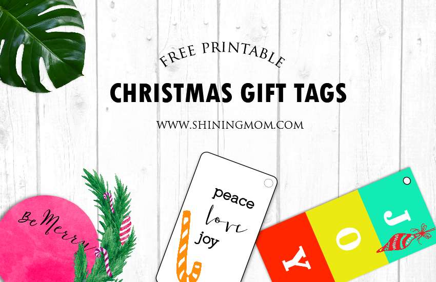 Editable christmas gift tag 2019