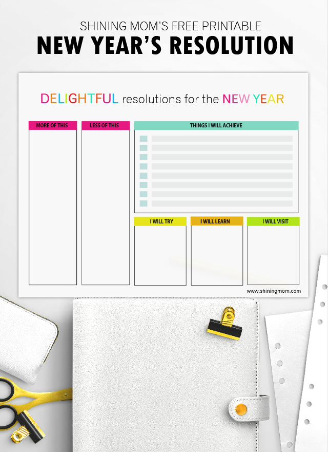 right now i have three printable sheets where you can write your new years plan i am excited to show them to you