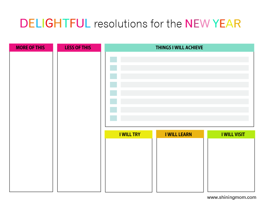 graphic regarding New Year Resolution Printable referred to as Create Your Refreshing Yrs Answer In this article!