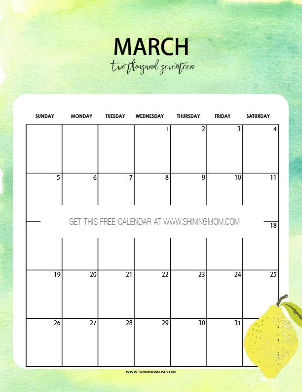 Nice Calendar Design : Free printable march calendars pretty designs