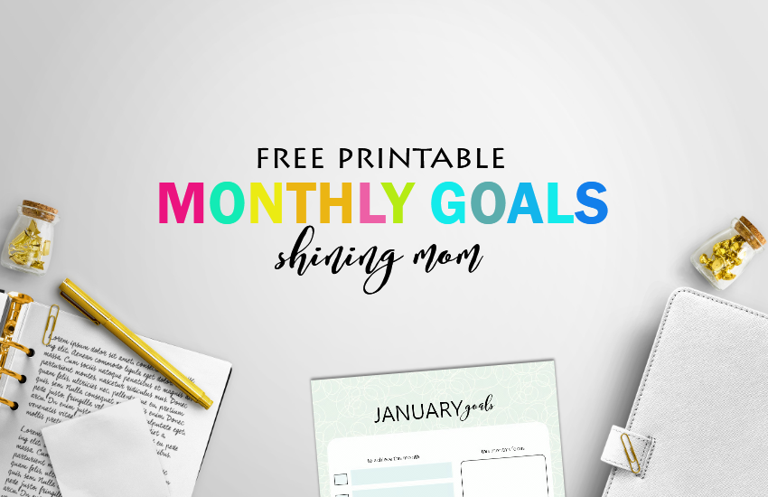 free printable goal setting template