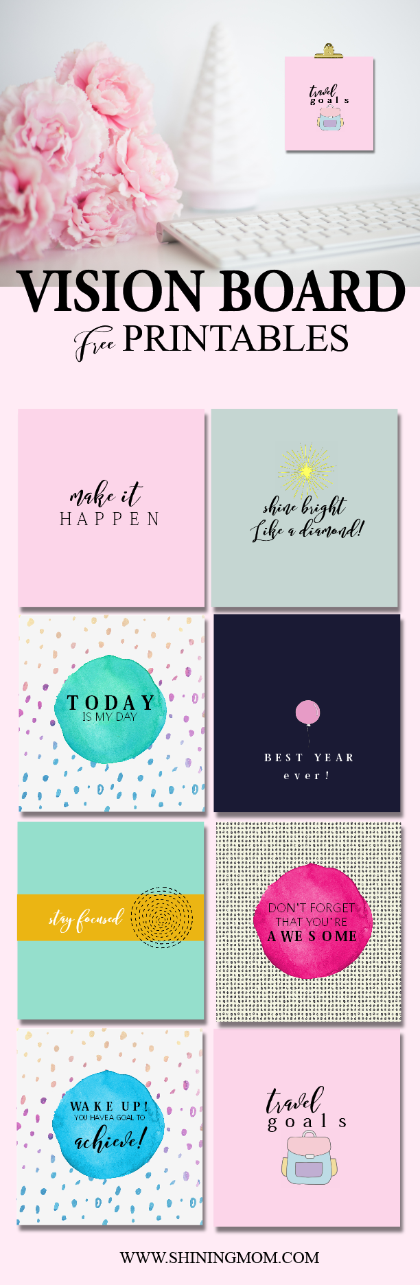 Vision board templates free image collections template for Vision board templates free