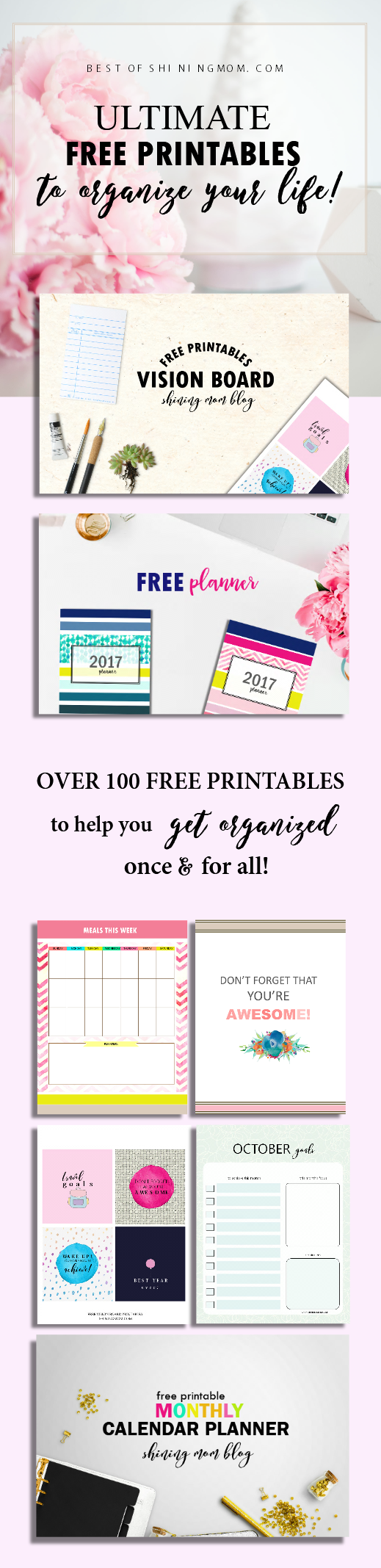 free printables to help you organize your life