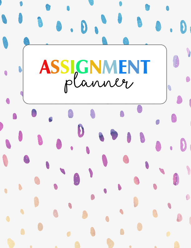 free assignment planner for kids and teens  fun and cute