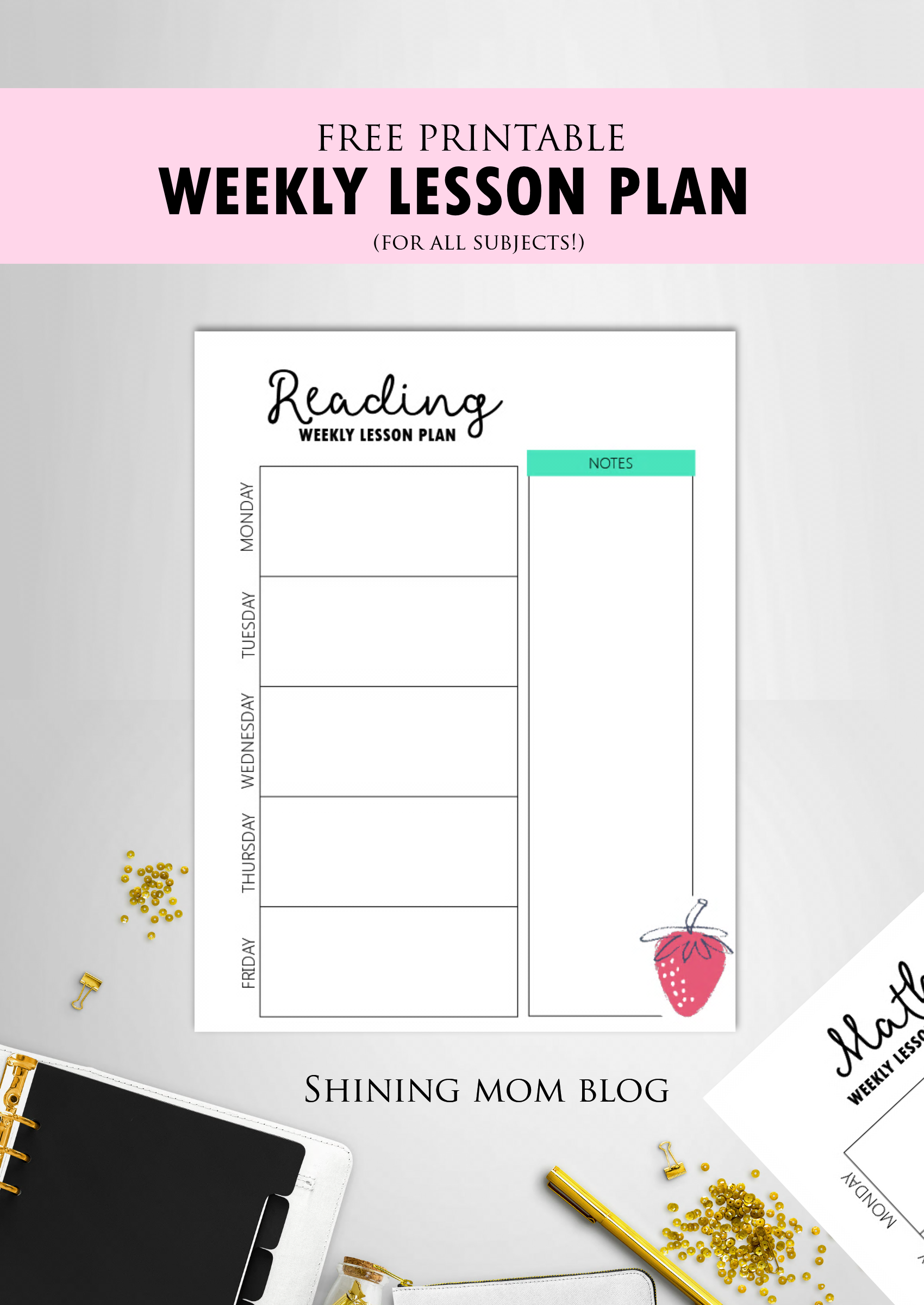 Free Teacher Binder Printables Over 25 Pretty Planning Templates