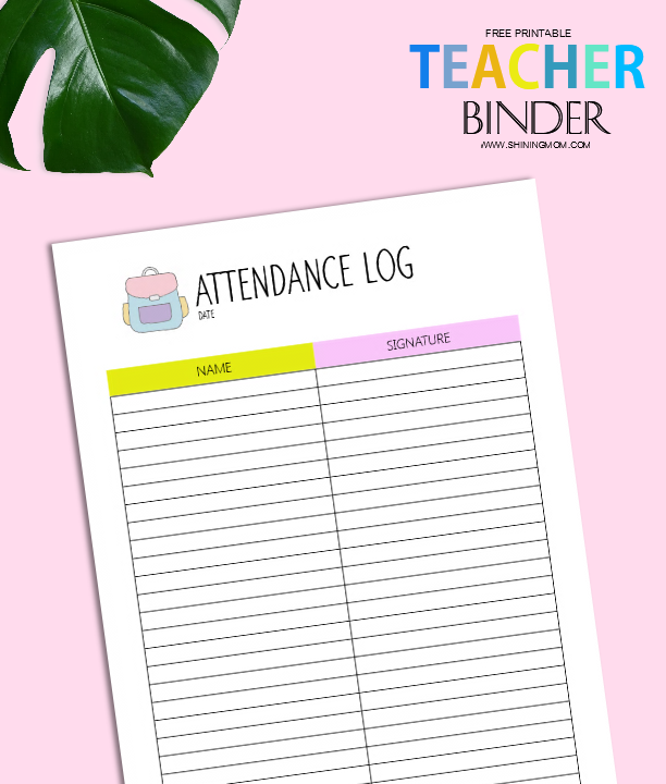 Free Teacher Binder Printables: Over 25 Pretty Planning