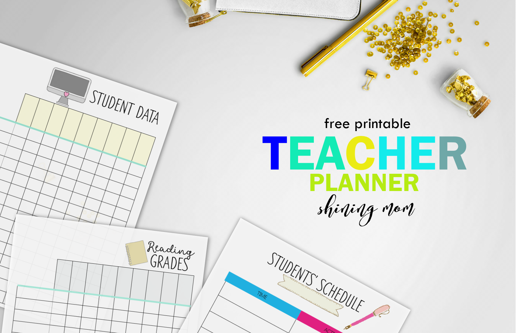 graphic relating to Free Printable Teacher Planner called Totally free Trainer Binder Printables: Above 25 Beautiful Building