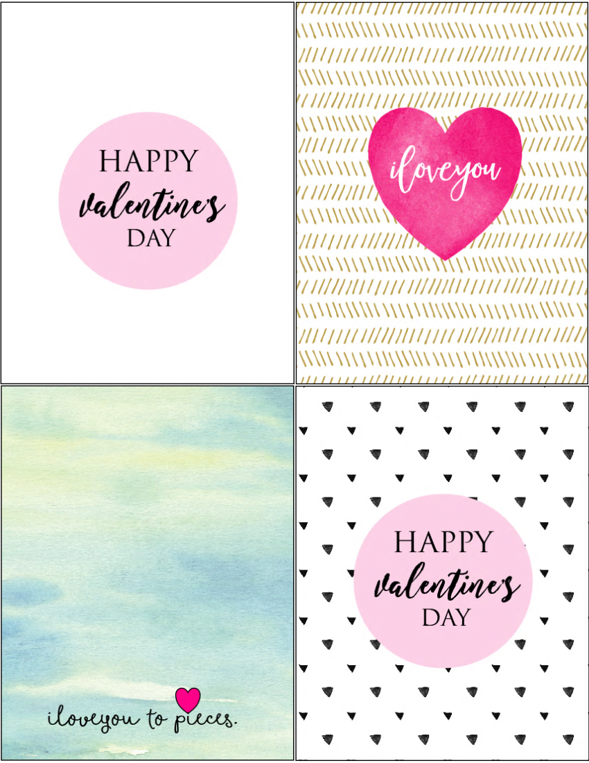 free valentine's day cards to print