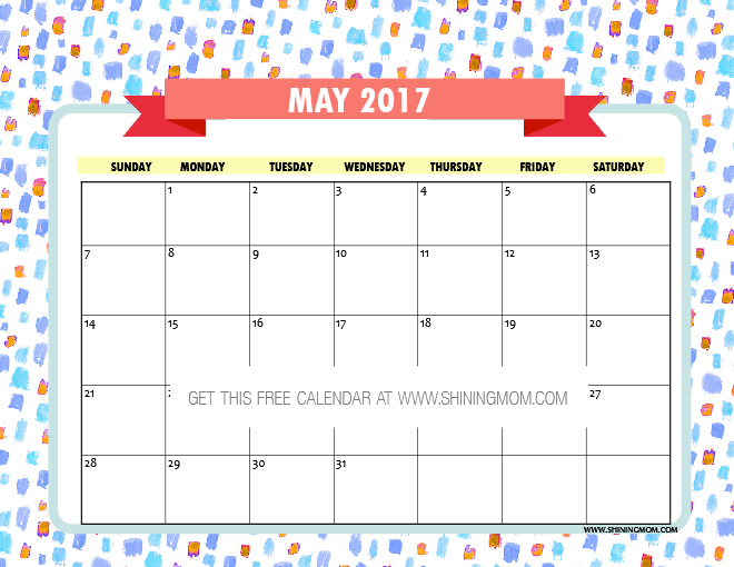 Calendar Ideas For May : Free printable may calendars awesome designs