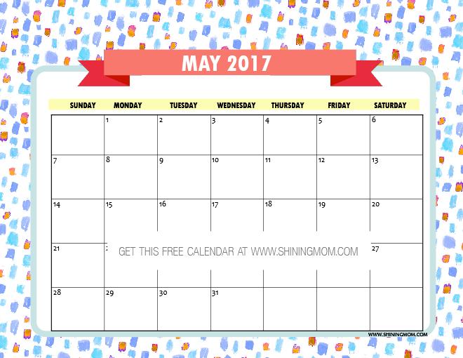 Calendar May 2017 : Free printable may calendars awesome designs