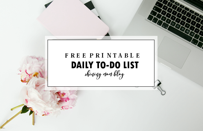 daily to do list template