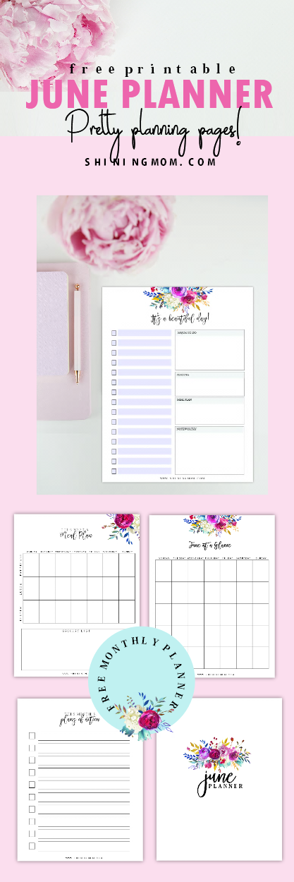 Free June planner to print!