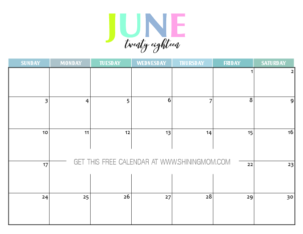 picture regarding Cute Free Printable Calendars named Absolutely free Printable 2018 Calendar: Very and Vibrant!