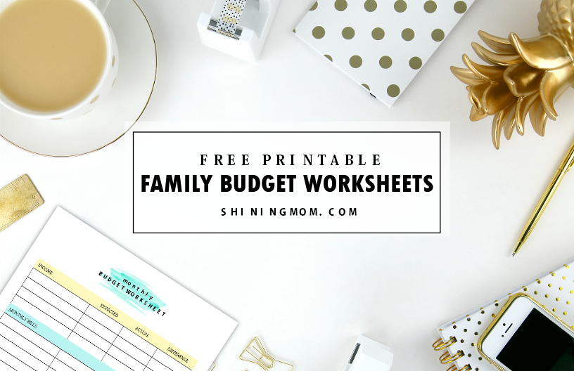 family budgets worksheets