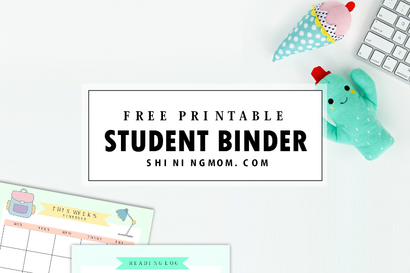 image relating to Free Organization Printables for College Students identified as Cost-free Printable Pupil Binder: About 25 Fantastic Coming up with Web pages!