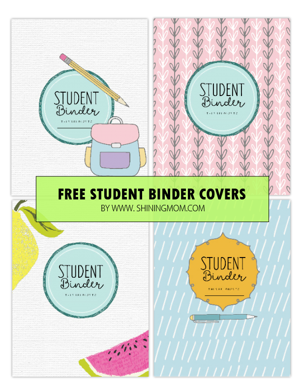 picture regarding Free Organization Printables for College Students named Cost-free Printable College student Binder: About 25 Wonderful Coming up with Webpages!