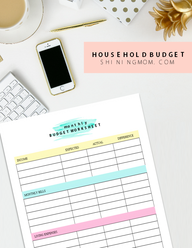 free printable family budget plan