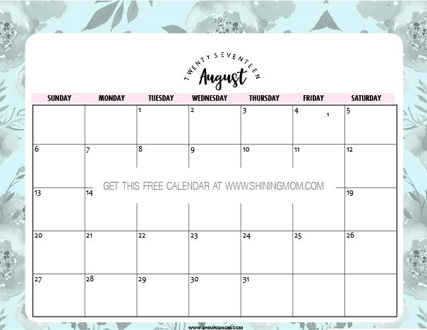 Augist 2021 Calendar Free Printable August 2017 Calendars: 12 Awesome Designs!