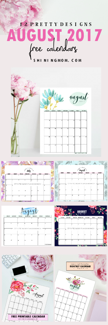 Free August 2017 Calendar!