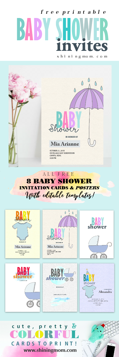 Baby shower invites printable