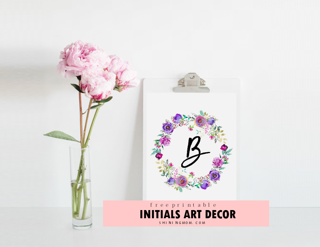 graphic regarding Free Printable Wall Art Flowers identified as Pink and Mint Totally free Very first Wall Artwork Printables