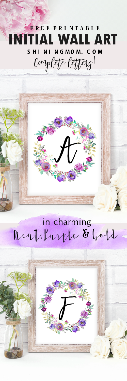 free initial wall art printables